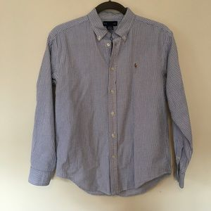 Ralph Lauren seersucker button down shirt